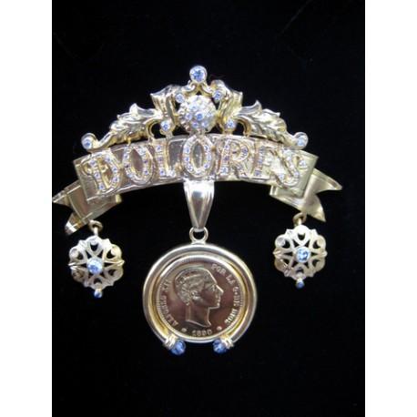 Broche de oro Ntra Sra de los Dolores Camas