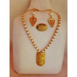 Collar Fenicio de Ebora con perlas