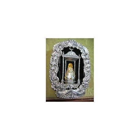 Relicario de Lazo Virgen del Rocío en plata de ley